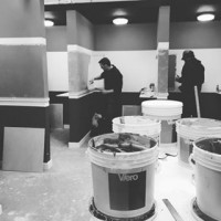 More new applicators getting to grips with our products at our college training courses #interiordesign #training #newskills #decorative