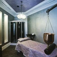 Viero surface finishes in a spa in Russia #interiordesign #silk #silkvelvet #venetianplaster #luxuryinteriors #luxury