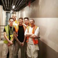 Happy Friday from the team! #Viero #FauxCreation #manchesterairport #friday #team #teamwork #applicators #surfacedesign #interiordesign #plasterfinish #polisedplaster #vierouk