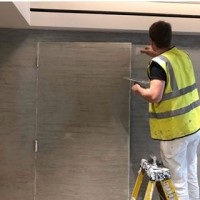 A few behind the scene shots of our highly skilled team installing Travertine at a recent project in @harrods. This natural lime plaster is perfect for high traffic areas. . . #VieroUK #Harrods #London #Wallfinish #surfacefinish #venetianplaster #naturalmaterials #interiordesign #architecture #interiorinspo #texturedwalls #friday